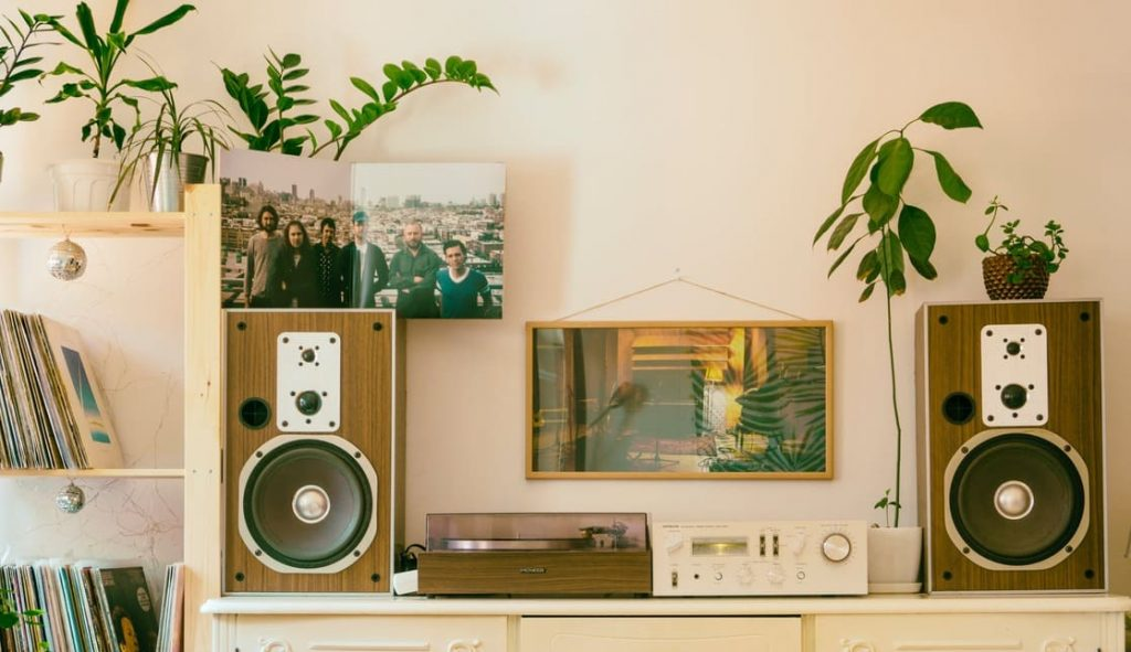 """Home Audio Setup With 12"""" Speakers"""