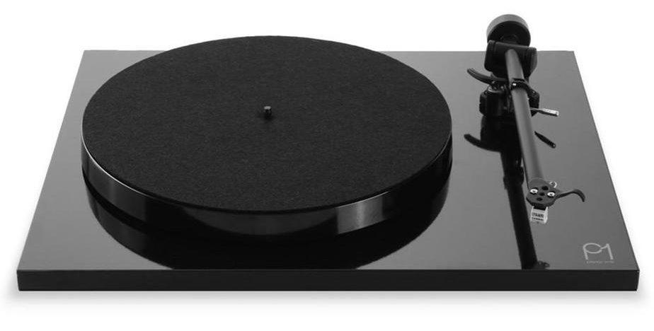 Elegant High Gloss Black Turntable by Rega