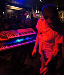 John with Keyboards on Tour