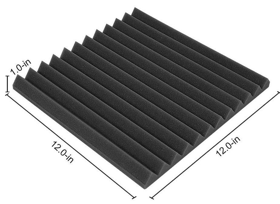 Black 12 x 12 acoustic panel